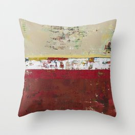 Buffalo Indian Red Burgundy Modern Abstract Art Throw Pillow