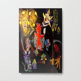 I.C.P Joker Ignited Metal Print