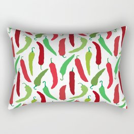 New Mexico Christmas Hatch Chiles in White Rectangular Pillow