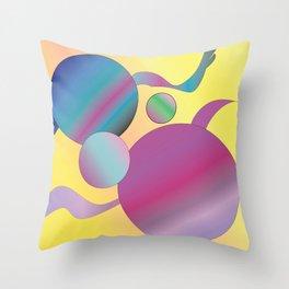 Atoms Throw Pillow