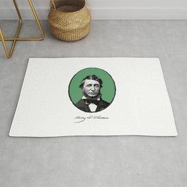 Authors - Henry David Thoreau Rug