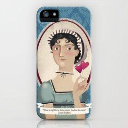 Jane Austen said... iPhone Case