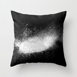 white dust explosion Throw Pillow