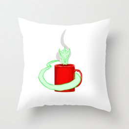 Dragon's coffee Throw Pillow