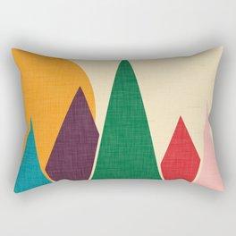 solar mountain #homedecor #midcentury Rectangular Pillow