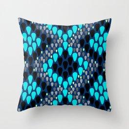 blue snakeskin Throw Pillow