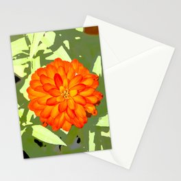 Orange Flower Abstract Stationery Cards