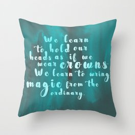 Hold Our Heads Throw Pillow