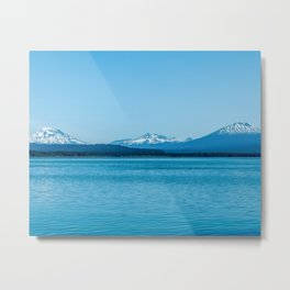 Visit Oregon // Amazing State with Incredible Scenic Views of Blue Lakes and Snowy Peaks Metal Print