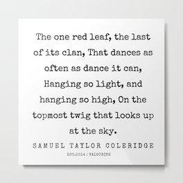 64  | Samuel Taylor Coleridge Poems | 200207 Metal Print
