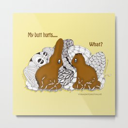 Chocolate Easter Bunny Problems Children Illustrations Metal Print
