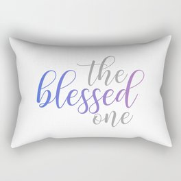 The blessed one- Mindful quote for yoga lovers Rectangular Pillow