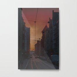 Helsinki Streets Metal Print