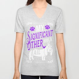 My Significant Other Has a Tail export 02 Unisex V-Neck