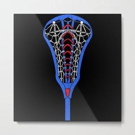 American Flag Colors Life Sport Lacrosse Metal Print