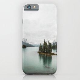 Landscape Photography | Spirit Island | Maligne Lake | Jasper Alberta | Emerald Water | Wall Art iPhone Case