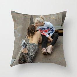 Wild Girls Throw Pillow