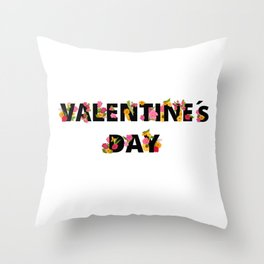National Valentines Day Throw Pillow