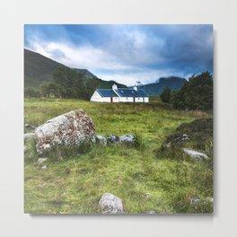 Cottage in Glencoe Metal Print