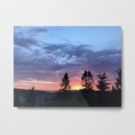Iridescent Sunset in Washington State Metal Print