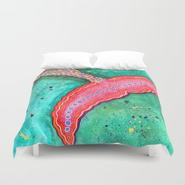 Watercolor Mermaid Tail Duvet Cover