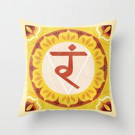 Solar Chakra (Manipura) Throw Pillow
