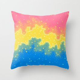 Pan Pride Flag Galaxy Throw Pillow