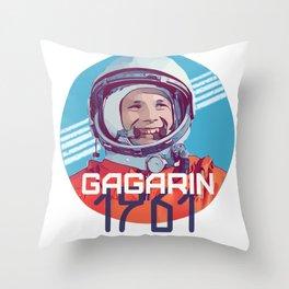 Yuri Gagarin first man in space Throw Pillow