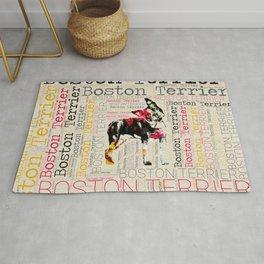 Adorable Boston Terrier Rug
