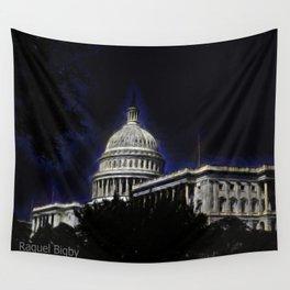 U.S. Capital Building Dark Wall Tapestry
