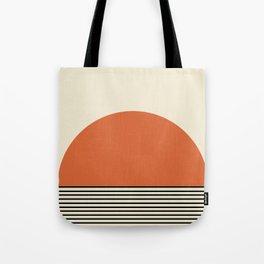 Sunrise / Sunset - Orange & Black Tote Bag