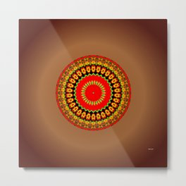 Mayan Eclipse Metal Print