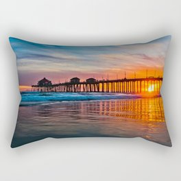 HB Sunsets - Sunset At The Huntington Beach Pier 3/10/16 Rectangular Pillow
