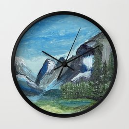 Acrylic Mountain Scene Wall Clock