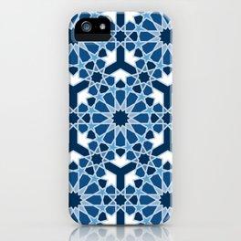 Lace Classic Blue classic islamic pattern iPhone Case