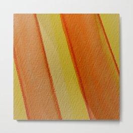 Happy Colors Strips Metal Print