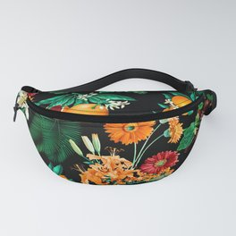 Fruit and Floral Pattern Fanny Pack