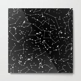 Star Constellations Metal Print