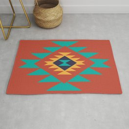 Southwest Indian Tribal Abstract Pattern Rug