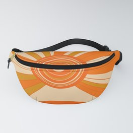 Sun and rainbow. Abstract geometric art. Modern Mid Century illustration. Fanny Pack