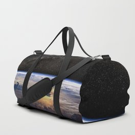 Space Station view of Planet Earth & Milky Way Galaxy Duffle Bag