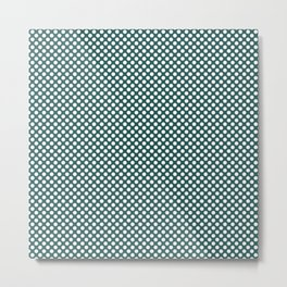 Bayberry and White Polka Dots Metal Print