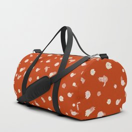 Textured mini floral in desert red Duffle Bag
