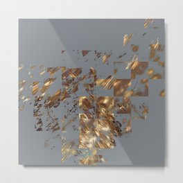 Bronze on Gray Square #abstract #society6 #decor #geometry Metal Print