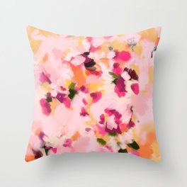 Abstract Floral Petals Throw Pillow