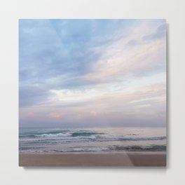 Pink Sky and Silver Sea Metal Print