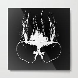 Flaming Specs Metal Print