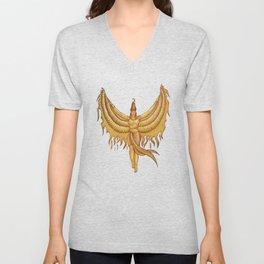 Isis, Goddess Egypt with wings of the legendary bird Phoenix Unisex V-Neck