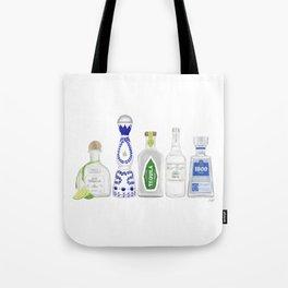 Tequila Bottles Illustration Tote Bag