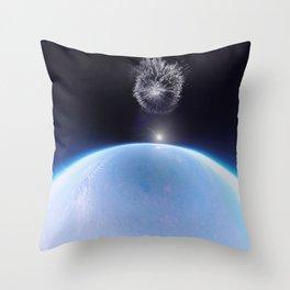 Space balloon burst Throw Pillow